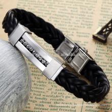 2015 nouveau bracelet en diamant en acier inoxydable bracelets en cuir classique bracelets bijoux design de mode PH796