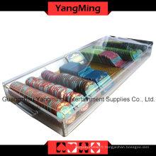 Bac à puces acryliques à haute qualité avec serrure (YM-CT09)
