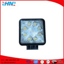 24W 12V o 24V LED Luz de trabajo con 8 piezas de alta potencia 3W LEDS