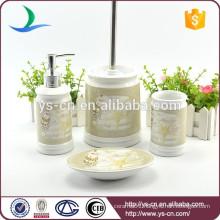 4pcs modern houseware ceramic bath set gift with decal
