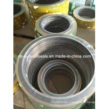 Спиральная прокладка с внутренним и наружным кольцом
