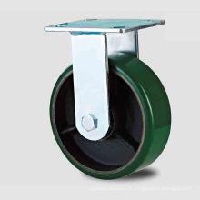 H20 Heavy Duty Tipo fixo Double Ball Green PU on Iron-Core Caster