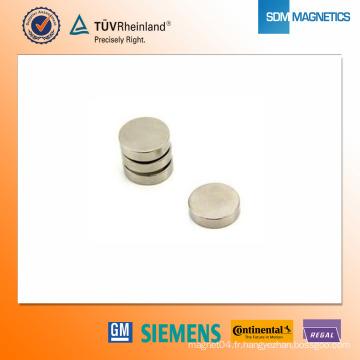 Aimant en néodyme N35 de D15 * 4mm
