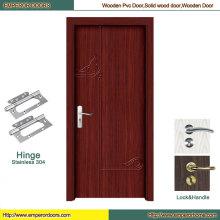 Puerta de PVC del cuarto de baño del PVC puerta del dormitorio Puerta de madera del modelo