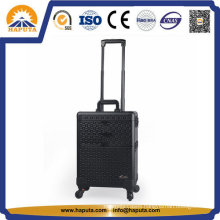 Black Professional Makeup Trolley with Mirror (HB-2017)