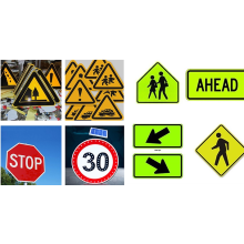 Reflective road safety sign blank