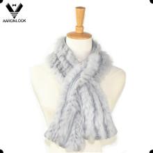 Mulheres de alta qualidade de luxo de confecção de malhas Coelho Fur Scarf