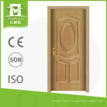 Китай поставщик интерьер пвх пользовательские деревянные двери с самой низкой ценой от юнкан чжэцзян