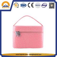 Caja de cosméticos de cuero para damas profesionales únicos (HB-6611)