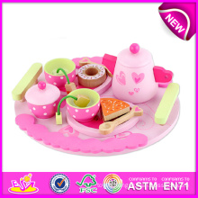Quality High New Tea Toy Set, Pretend Play Tea Set Toy for Kids, Wooden Toy Tea Set Toys for Children, Wooden Tea Set Toy W10b092