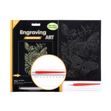 Fornecimento de Kit de arte borboleta ouro máscara preta gravura para Amazom.com