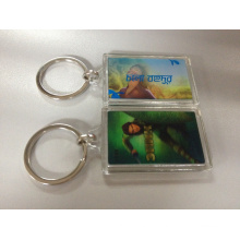 Custom 2016 New Design Plastic Acrylic Keyring with Both Side 3D