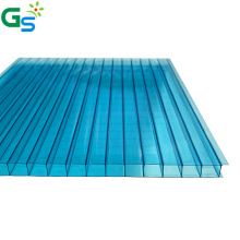 Uv Coating Carport Roofing Material Green Blue Brown Double Wall Polycarbonate Hollow Sheet