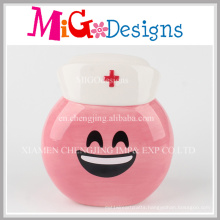 Pink Emoji Ceramic Money Bank Coin Box for Kids