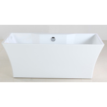1600mm Freestanding Bathtub with White Acrylic