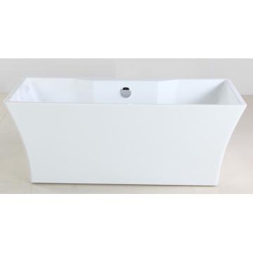 1600mm Freestanding Bathtub with White Acrylic