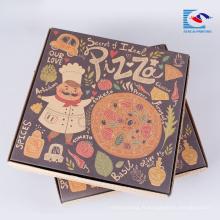 Boîte de papier ondulé de papier de pizza de pliage libre