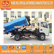 DONGFENG marca push-pull brazo camión de basura 4x2 5m3 nuevo modelo de buena calidad precio con descuento