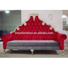 Red fabric high back loveseat for wedding/events furniture XY0373