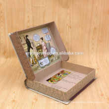 Comic book packaging book shaped paper gift box