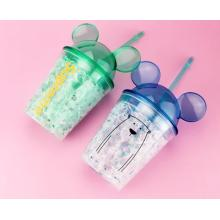 Summer Ice Bottle Double Wall Plastic Water Cup