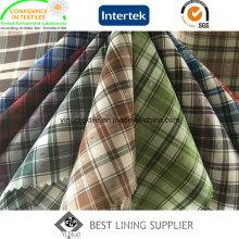 100% полиэстер проверки подкладочной ткани для куртка