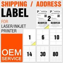 Etiquetas adhesivas hoja de pegatinas a4 para impresora de inyección de tinta