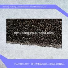 Filtro de carbón activado con aire acondicionado Fibra de carbono con nido de abeja