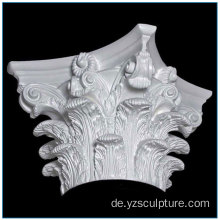 Neues Design Fiberglas Roman Capital Pillar Caps
