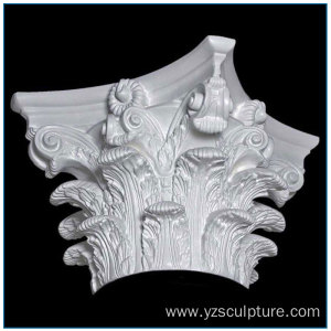 New Design Fiberglass Roman Capital Pillar Caps