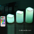 Batteria Votive pilastro senza fiamma LED candela Home Decor