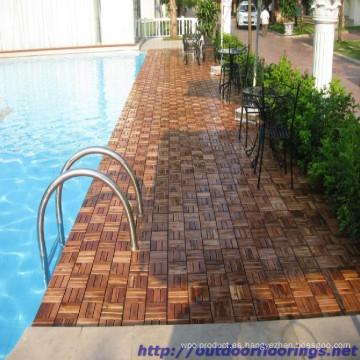 Azulejos de madera de la piscina Nice design
