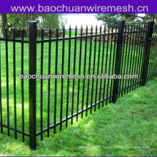 """Plastic spraying 48"""" High 2 Rail Picket Top wrought iron fence"""