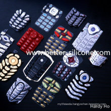 PC Silicone Rubber Keypad with Plastic Cover (P+R)