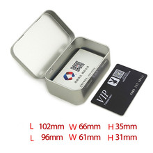 Silver Square Bussiness Card Latas de estaño