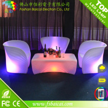 Outdoor plástico LED Chaise Lounge Chair com cores mudando