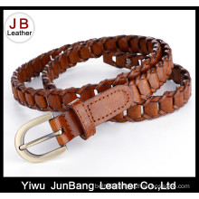 New Latest Ladies′ Fashion Bonded Leather Braid Weave Belt
