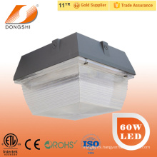 5 years warranty ETL 60W gas station led canopy lights