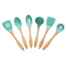 Juego de utensilios de cocina de silicona de 6 piezas