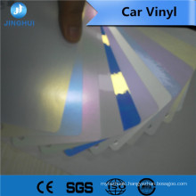 Red laser vinyl roll banners