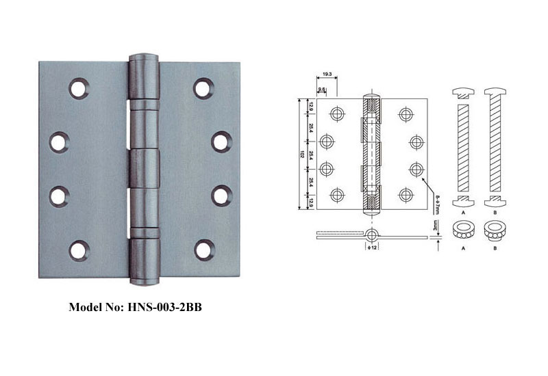 Five Knuckle Stainless Steel Door Hinges