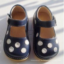 Marine mit weißen Tupfen weichen quietschende Schuhe 7 Farben