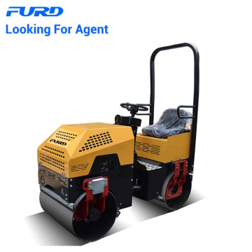 Outstanding 1 Ton Hydraulic Twin Drum Vibrating Roller For Market