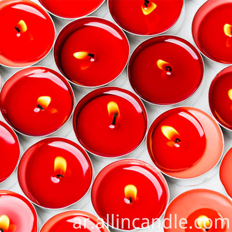 red tea light candle