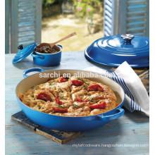 Enamel Shallow cast iron casserole