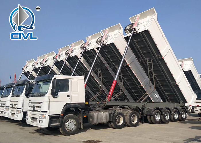 4 Axle Dump Semi Trailer 1