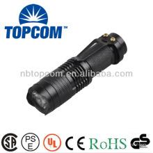 Mini linterna de zoom con led de aluminio con clip TP-68
