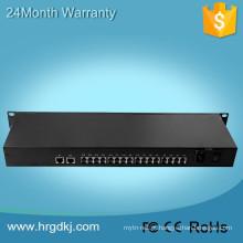 Rede de televisão PCM multiplexador 16 potes FXS FXO multiplexador PCM + 1 porta ethernet + 1 porta video