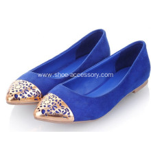 Lady Shoe Accessory, Hollow Metal Toe Caps for Women Shoe Ornaments