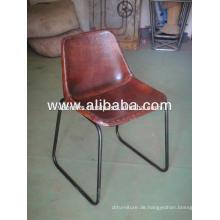Industrial Leather Chair für Restaurant